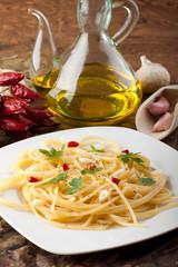 Pasta aglio, olio - Pasta with garlic and olive oil