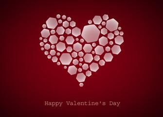 Happy Valentine's Day, heart, vector