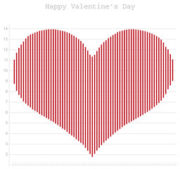 Happy Valentine's Day, heart diagram for office. vertor