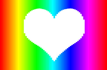Happy Valentine's Day, heart from colorful lines. vertor