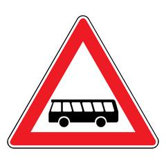 Papier Peint - Verkehrsschild -145 Kraftomnibusse