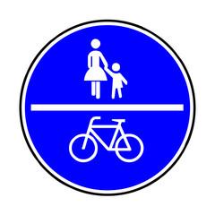 Papier Peint - Verkehrsschild - 240 gemeinsamer Fuß- und Radweg