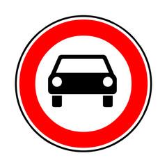 Papier Peint - Verkehrsschild - 251 Verbot für Kraftfahrzeuge