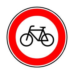 Papier Peint - Verkehrsschild - 254 Verbot Fahrräder