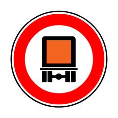 Papier Peint - Verkehrsschild - 261 Verbot Fahrzeuge gefährliche Güter