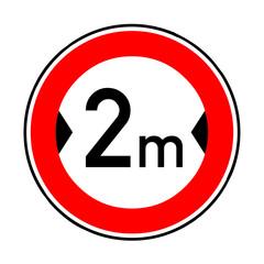 Papier Peint - Verkehrsschild - 264 Verbot Fahrzeuge über 2 m