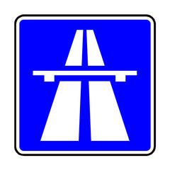 Papier Peint - Verkehrsschild - 330 Autobahn