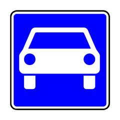 Papier Peint - Verkehrsschild - 331 Kraftfahrstraße