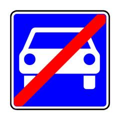 Papier Peint - Verkehrsschild - 336 Ende der Kraftfahrstraße