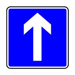 Papier Peint - Verkehrsschild - 353 Einbahnstraße