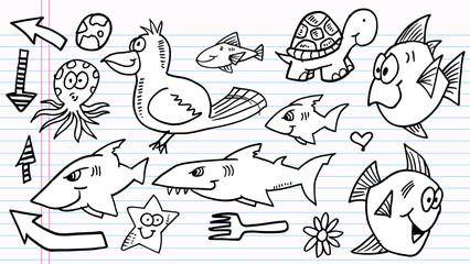 Notebook Doodle Sketch  Elements  Vector Set