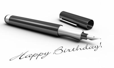 Happy Birthday - Stift Konzept