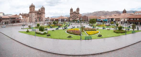 Panorama of Cuzco, Peru, the ancient Incas capital.