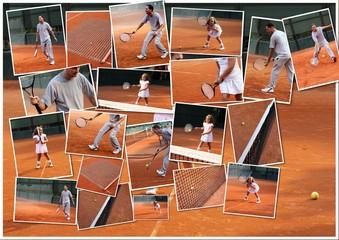 Tennis collage