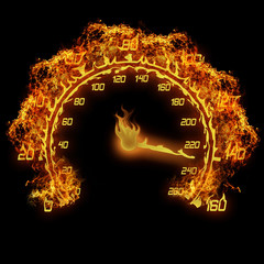 burning speedometer
