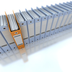 Classeur archive bleu et orange 04