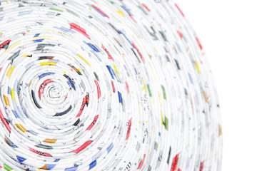 spiral made of rolled paper