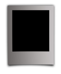 photo frame on an isolated white background