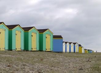beach huts at an english resort