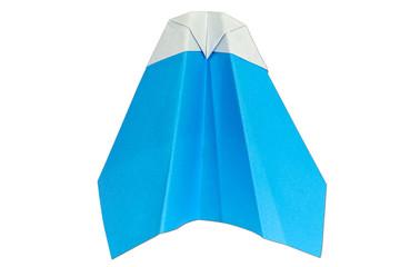 blue plane origami handcraft