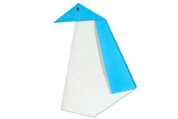 blue penguin origami handcraft