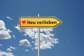 Wegweiser - Neu verlieben