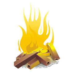 campfire. vector illustration