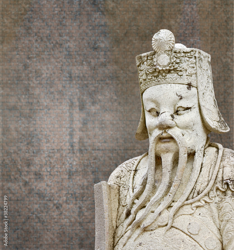 Statues Of Ancient China With Background Old Walls Stock Photo And
