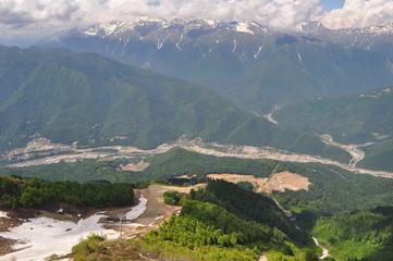 Долина реки в горах