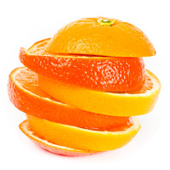 Foto op Canvas Plakjes fruit Orange