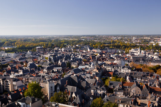 Looking across the rooftops of Bourges
