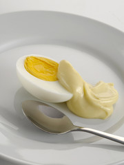 Egg mayonnaise & spoon