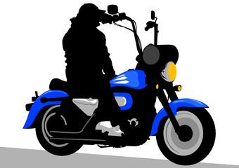 Keuken foto achterwand Motorfiets Chopper of tourist