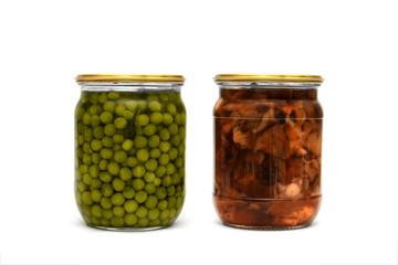 peas and mushrooms