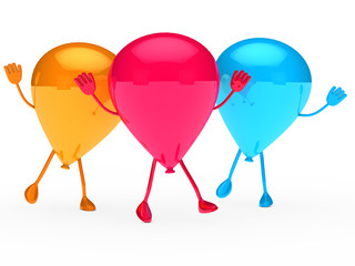 Colorful Party balloon wave