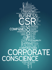 "Word Cloud ""Corporate Conscience"""