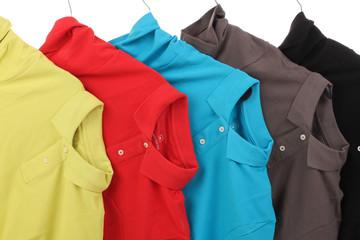 Bunte Poloshirts