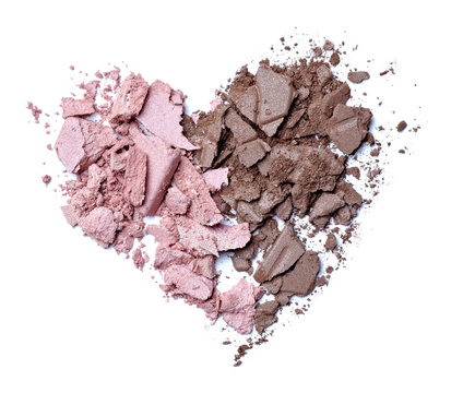 hearts shape love cream face powder