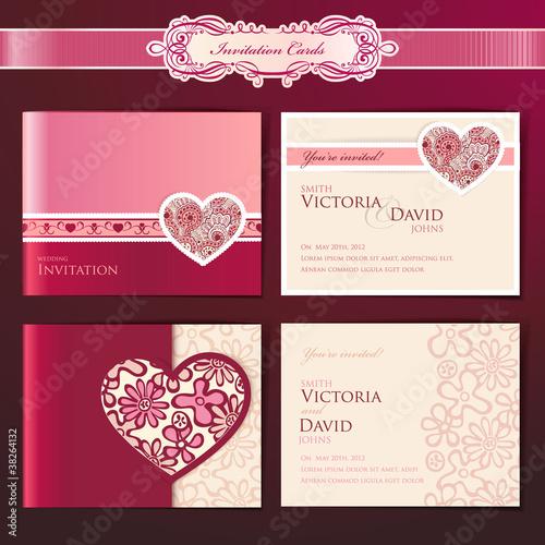 Пригласительные на свадьбу в визиток