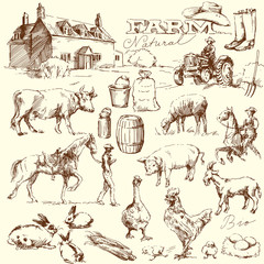farm collection - hand drawn set