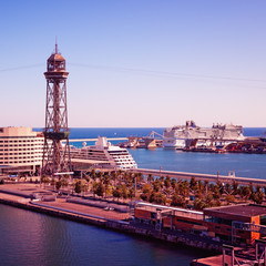 Luxury Cruise Ships at Barcelona Cruise Port.
