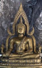 Ancient gold buddha image