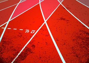 Sport, piste, stade, athlétisme, course, illustration