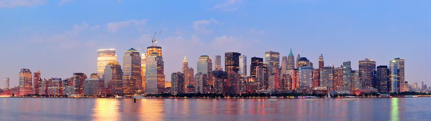 Fototapete - New York City Manhattan downtown skyline