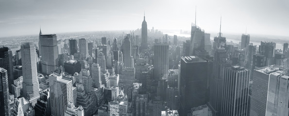 Fototapete - New York City skyline black and white