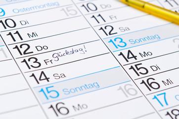 Freitag der 13 - Glückstag