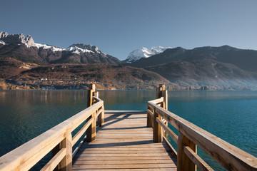 French Alps Pier Lake H
