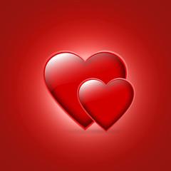 Glowing Pair of Heart