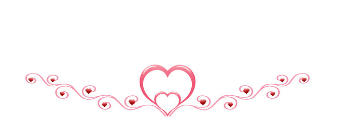 Red hearts with decoration