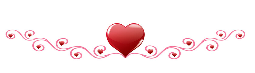 Red heart with decoration